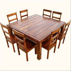 dining table 8 person square dining table