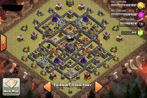 clash of clan th 9 war base th9 clash of clans goonsquadelite