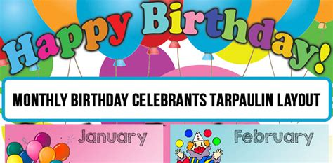 tarpaulin layout editor free monthly birthday celebrants tarpaulin layout deped forum