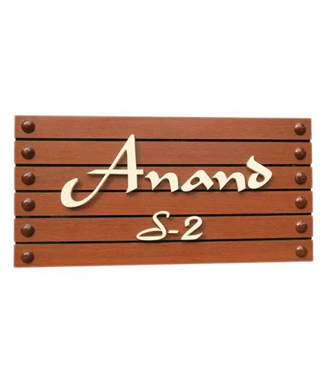 Handmade Name Plates - handmade brown acrylic name plate door accessories buy