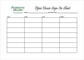 open house guest registration form template sle open house sign in sheet 10 documents in pdf