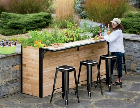 Garden Bar Table Plant A Bar An Outdoor Bar Made With Reclaimed Wood That Doubles As A Planter Inhabitat