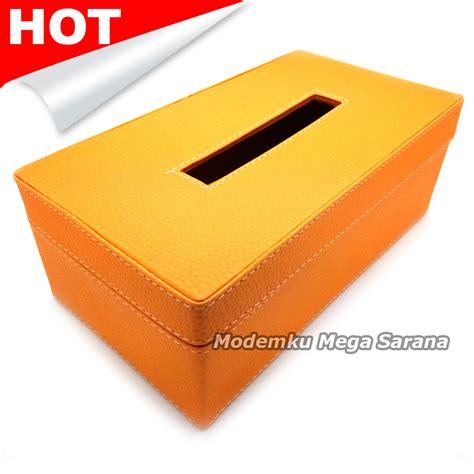 Jual Kotak Musik Di Yogyakarta jual kotak box tisu vinyl 24x13x9 cm oranye modemku