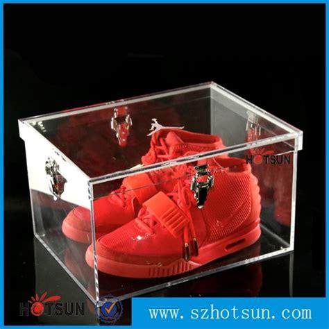 clear sneaker box high quality showcase clear acrylic shoe box acrylic shoe