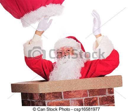 picture of down through the chimney santa claus slipping