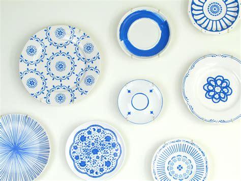 painted blue white plates housebeautiful feature francois et moi