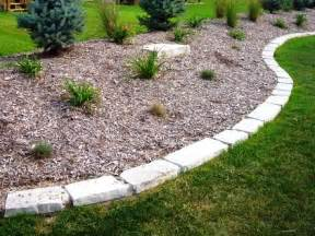 Rock Edging For Gardens Landscaping With Rocks And Stones Edging Yard And Garden Landscaping