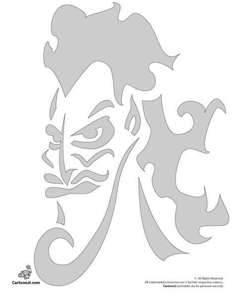 printable pumpkin stencils disney hades disney villian pumpkin carving pattern woo jr