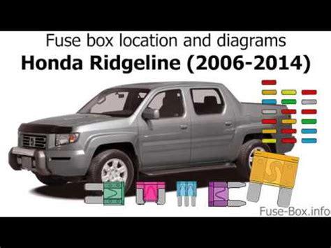 Fuse Box Location And Diagrams Honda Ridgeline 2006 2014