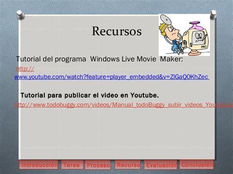 tutorial windows live movie maker pdf español webquest