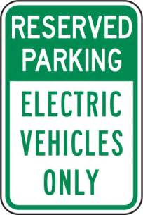 Electric Vehicles Only Reserved Electric Vehicles Only Sign T5615 By Safetysign