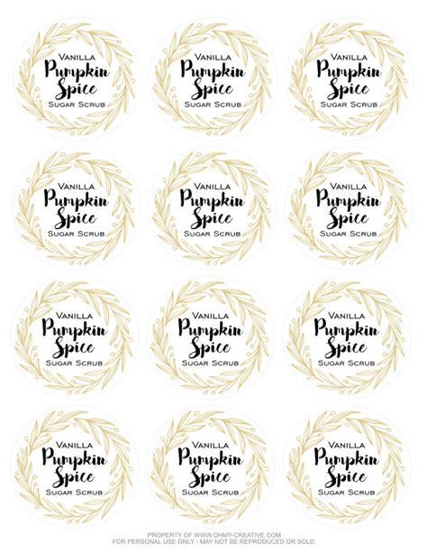 printable vanilla labels vanilla pumpkin spice sugar scrub free printable label