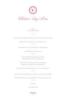 prix fixe menu template valentines prix fixe menu s day menus