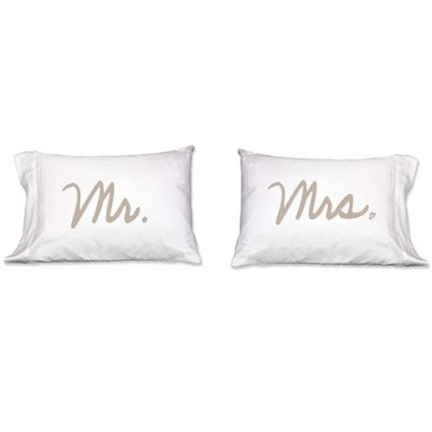 mr and mrs matching pillowcases mr and mrs pillows