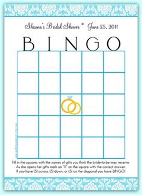 free printable bridal shower blank bingo games free printable bridal bingo template bridal shower bingo