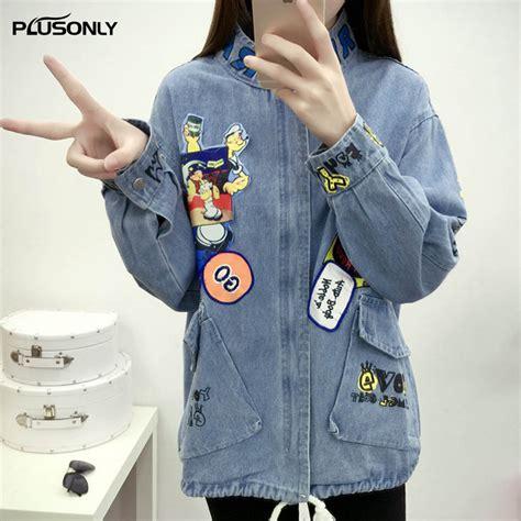 New Oversize Jacket oversize jackets 2017 new character pattern stand