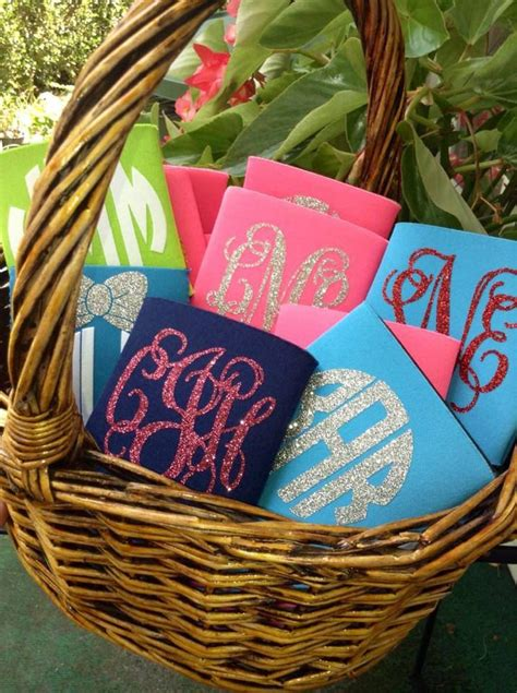 creative wedding favor koozies ideas