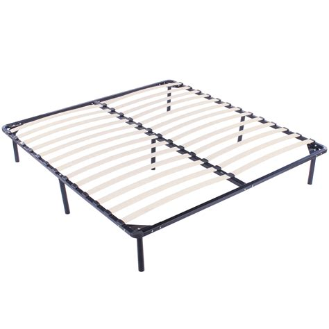 foundation bed frame king size wood slats metal bed frame platform bedroom