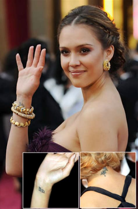 jessica alba wrist tattoo alba tattoos pictures images pics photos of