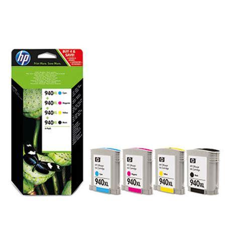 Hp 940xl Officejet Ink Cartridge C4907aa Cyan hp 940xl combo 4 pack ink cartridges c2n93ae ebuyer