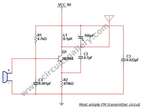 trimmer capacitor proteus most simple fm transmitter circuit diagram circuits gallery