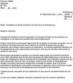 lettre de motivation ecole le dif en questions