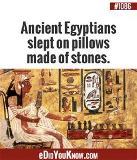 Ancient Egyptians Slept On Pillows Made Of by Proud To Be On