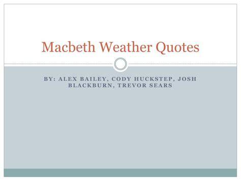 Weather Motif Quotes In Macbeth