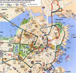 Map Of Downtown Boston by Map Of Quincy Market Area Boston