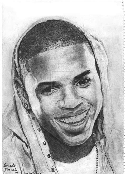 realistic portrait done by chris pencil drawing of chris brown www pixshark images