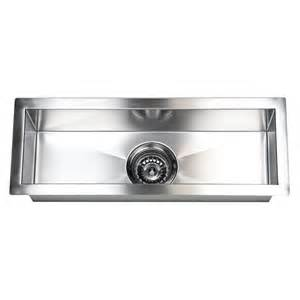 Narrow Sinks Kitchen 23 Inch Stainless Steel Undermount Single Bowl Kitchen Bar Prep Sink Zero Radius Design