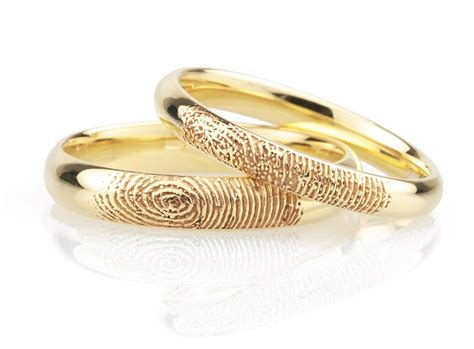 fingerprint wedding rings unique wedding rings in 5 easy