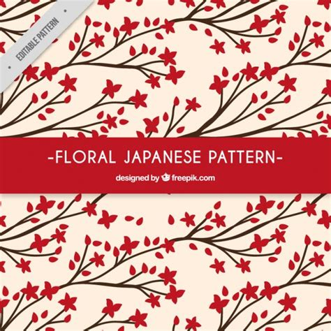 japanese pattern vector download red floral japanese pattern vector free download