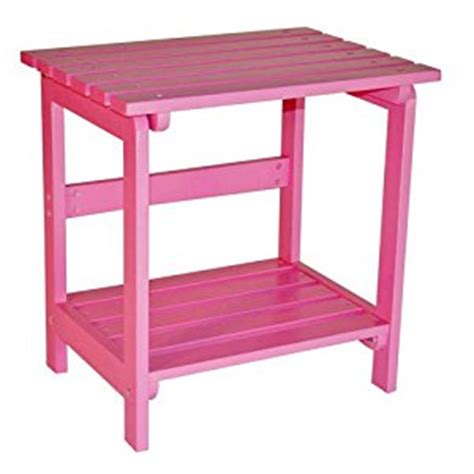 Pink Side Table Cedar Side Table Pink Patio Side Tables Patio Lawn Garden