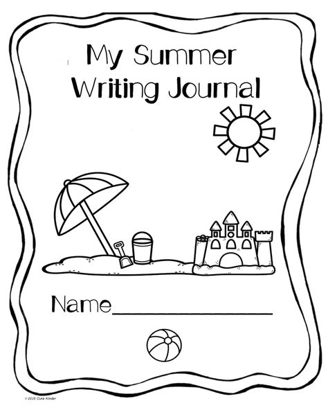 printable science journal cover summer writing free printables for writing journal covers