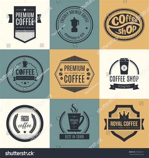 design elements of a coffee shop vector set coffee shop logos restaurant stock vector