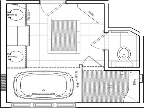 Small Bathroom Floor Plans With Shower Small Master Bathroom Plans Folat