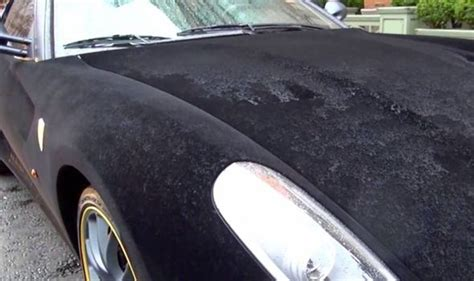 velvet car furrari hapless owner leaves velvet covered