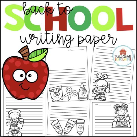 school themed writing paper 71 best day of school images on