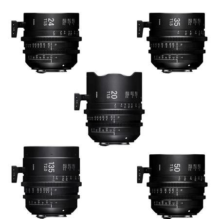 Sigma 24mm T1 5 Ff High Speed Prime Ef Mount sigma t1 5 ff high speed prime cine 5 lens set imperial arri pl mount