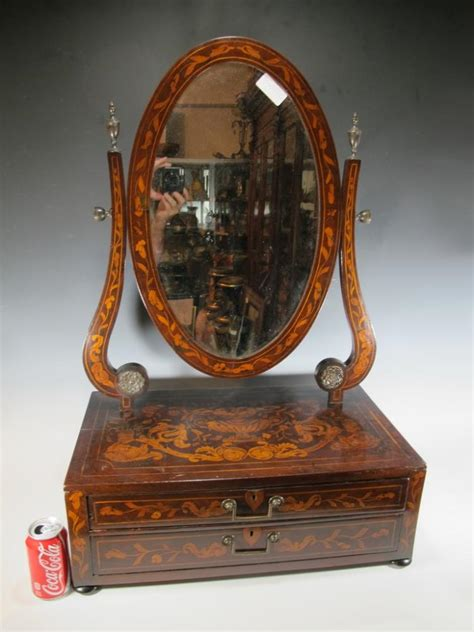 Antique Wood Vanity With Mirror by Antique Inlaid Wood Vanity Mirror