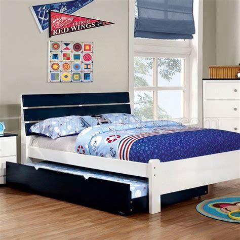 kids blue bedroom furniture kimmel cm7626bl 4pc kids bedroom set in white blue w options