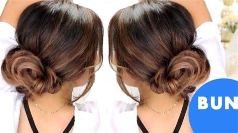 3 minute bun hairstyles easy updo hairstyles