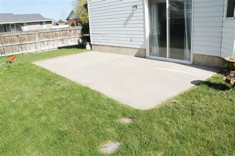 cement backyard how to stain a concrete patio chris loves julia