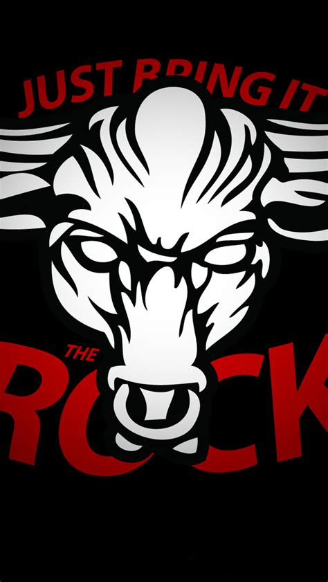wallpaper for iphone wwe the rock logo