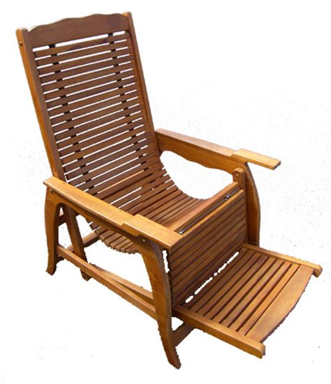 bamboo recliner chair bamboo teak
