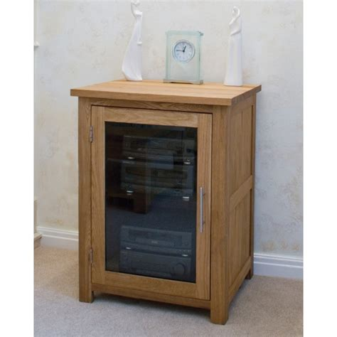 boston hi fi storage cabinet unit solid oak living room
