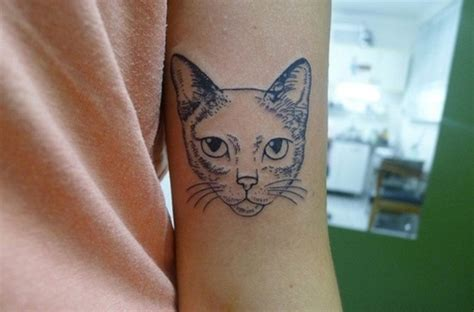 tattoo cat head face tattoo images designs