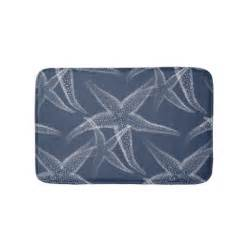 navy blue bath mats starfish navy blue bath mat bath mats zazzle