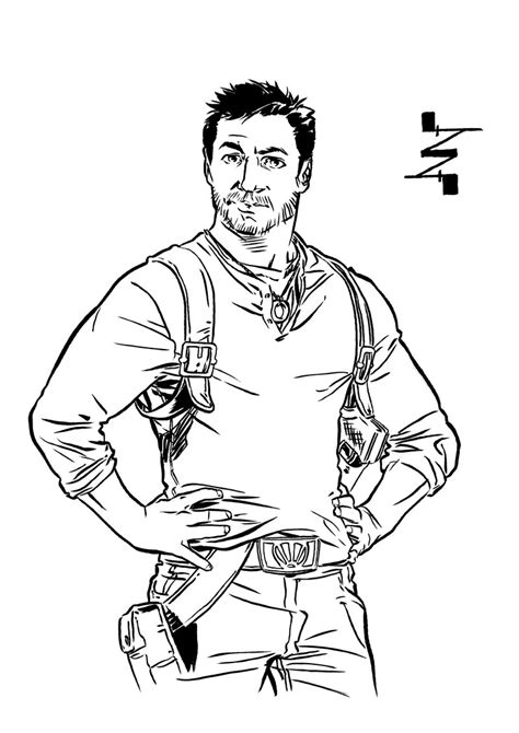 Uncharted 4 Coloring Pages by Nathan By Albertonavajo On Deviantart